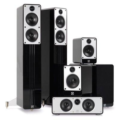 Q Acoustics  concept 5.1 set black