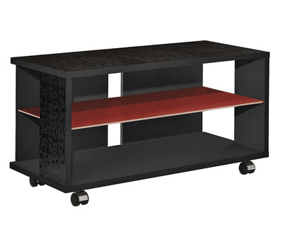 Munari MT 100 Nero Glass Shelf Rosso