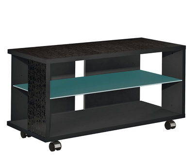 Munari MT 100 Nero Glass Shelf petrolio