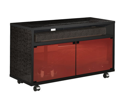 Munari MT 110 Nero Glass Shelf Rosso