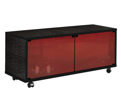 Munari MT 125 Nero Glass Shelf Rosso