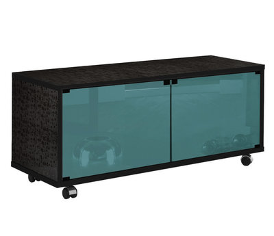 Munari MT 125 Nero Glass Shelf Petrolio